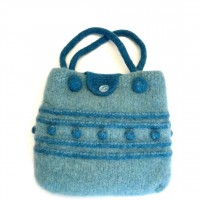 Blues bag by Felted Sheep Co