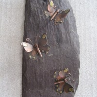 Copper Butterflies on slate