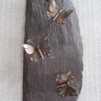 Copper Butterflies on slate