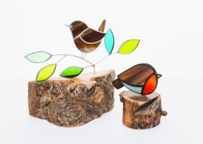 Glass birds by Carolyn Morgan