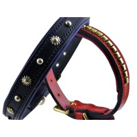 ESB Leather Decorated leather dog collars