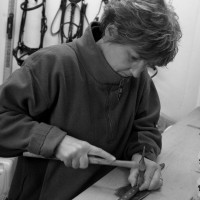 Emma Baker Jones at the Workbench