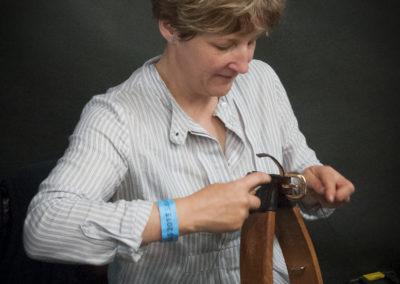 Emma handstitching leather