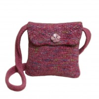 Felted Sheep Pink bag