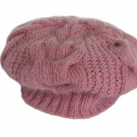 Felted Sheep pink knitted hat