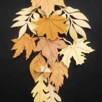 Leaf sculpture by Grahame Tucker