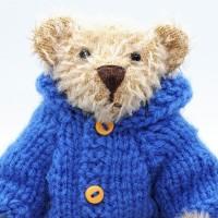 Bear in a Duffle coat by Janis Prestbury