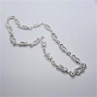 Silver Knots necklace by Janis Prestbury