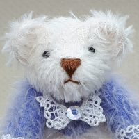 Janis Waldron - Blue and white bear, lace collar