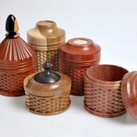 Ken Gilbert Ornamental turned wooden boxes