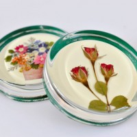 Pressed flower paperweights by DianeBlandford