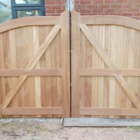 Sapele gates by Jake Keogh