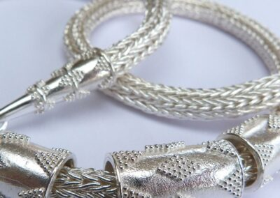 Silver rope chain pendant by Megan Arnold