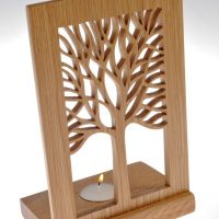 Tea light tree plaque by Sarah Pinnell