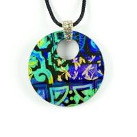 Glass pendant by Black Cat Designs