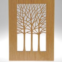 Oak plaque by Sarah Pinnell Fretwork