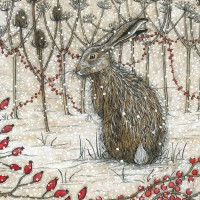 Hare in Winter by Jennifer Chance
