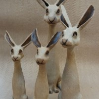 Hares by Claire Billingsley